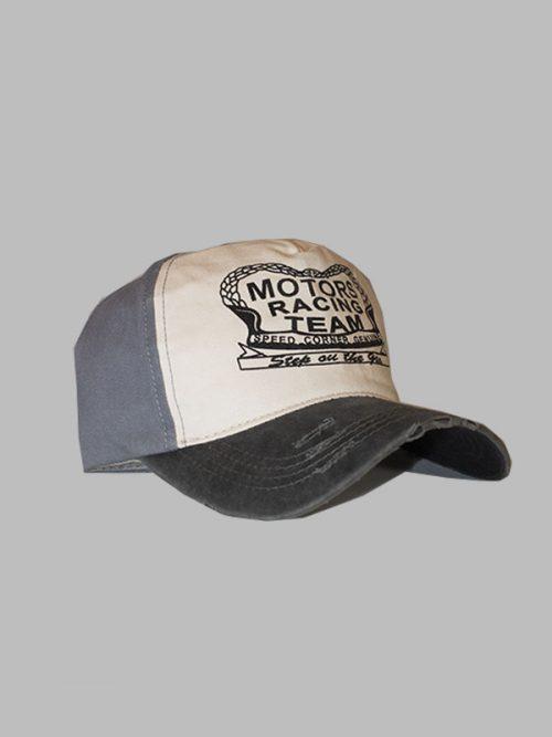 gorra motors gris oscuro de hombres