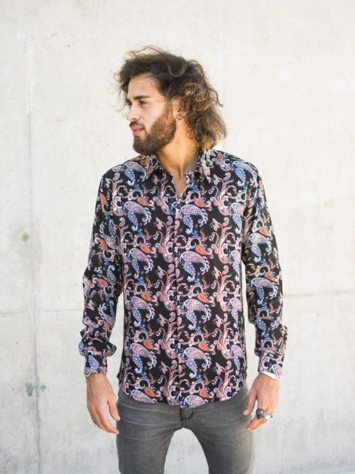 camisa bogota para hombres estampada