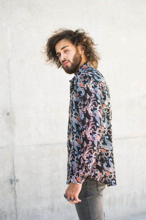 camisa bogota para hombres estampada producto